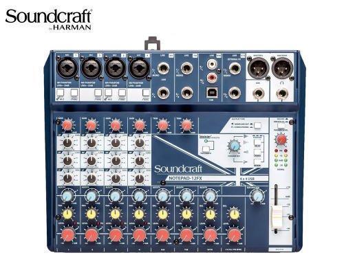 Soundcraft / サウンドクラフト アナログミキサー(USBオーディオインターフェース搭載) Notepad-12FX