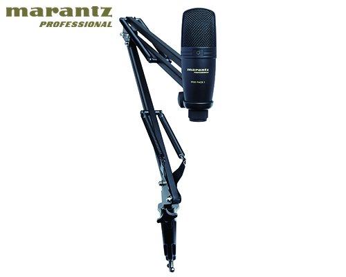 marantz professional(マランツプロフェッショナル)放送/配信用USBコンデンサーマイク&ブームアームスタンド Pod Pack 1J