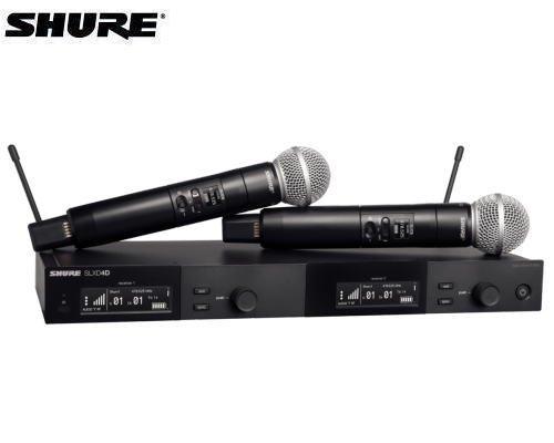 SHURE ハンドヘルドデュアルセット B帯 SLXD24DJ/SM58-JB