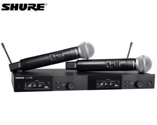 SHURE ハンドヘルドデュアルセット B帯 SLXD24DJ/B58-JB