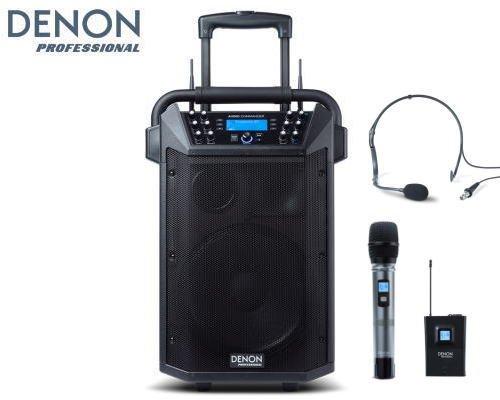 DENON プロフェッショナルモバイルPAシステム(ワイヤレスマイク・ヘッドセットマイク付属)Audio Commander