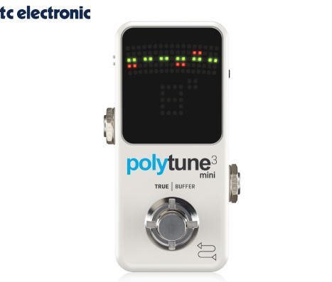 TC ELECTRONIC(ティーシーエレクトロニック)POLYTUNE 3 MINI ペダルチューナー