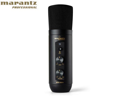 marantz professional(マランツプロフェッショナル) MPM-4000UJ オーディオインターフェース内蔵 ヘッドホン出力搭載 USB PODCASTマイクロホン