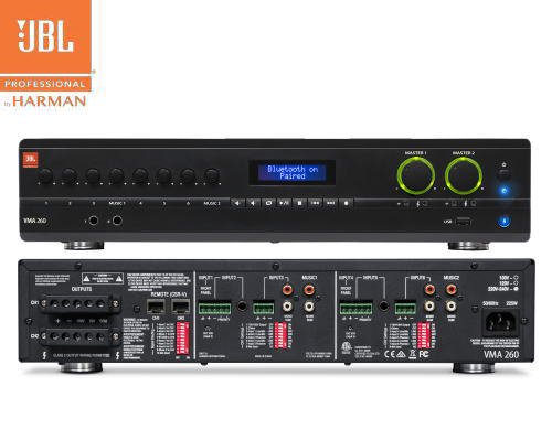 JBL(ジェービーエル) VMA 260 ミキサー/メディアプレイヤー内蔵パワーアンプ(2Uサイズ)