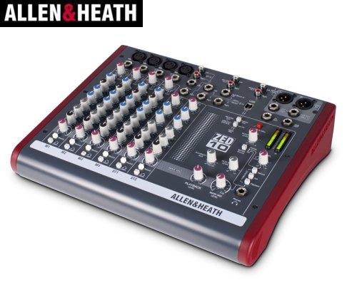 ALLEN&HEATH(A&H)/アレン&ヒース(アレヒ) アナログミキサー(USBインターフェース搭載) ZED-10