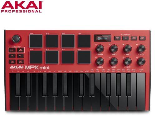 AKAI(アカイ)MPK mini MK3 RED MIDIキーボード(レッドモデル)
