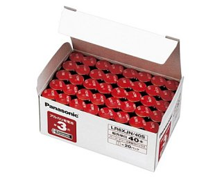Panasonic/パナソニック  単3形アルカリ乾電池 業務用パック 40本入 LR6XJN/40S