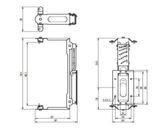 EV エレクトロボイス  ZX5用壁面ブラケット ZX5WB