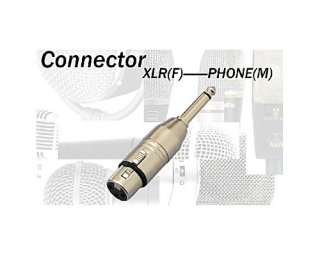 コネクターの変換パーツ☆XLRメス⇔フォン(モノ) TDX309(CA309)