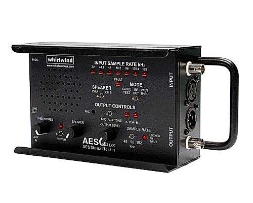 whirlwind ラインテスター +AES/EBUテスター(サンプルレート48kHz,96kHz) QBOX-AES