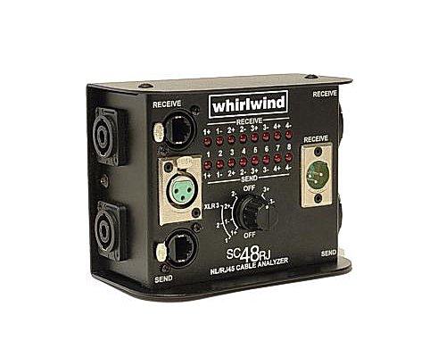whirlwind スピーカーケーブルテスター(NL4, NL8, XLR3Pin, RJ45)  SC48RJ