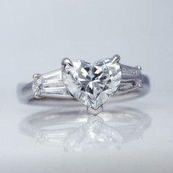 ptハートシェイプダイヤモンド1.122ct 0.20ct