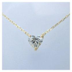 K18YGハートシェイプダイヤプチネックレス0.41ct