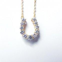 K18YG C-LINE ダイヤモンド 馬蹄ネックレス D 0.30ct