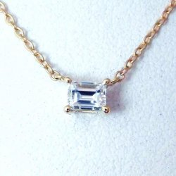 K18YG C-LINE ダイヤモンド ネックレス D 0.330ct D-VS2