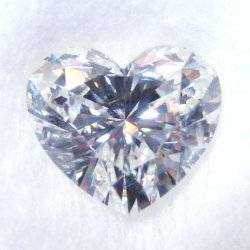 ハートシェイプダイヤモンドルース D 1.511ct G-SI2 中央宝石研究所鑑定書付