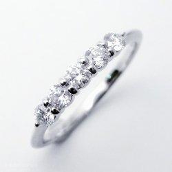 ハーフエタニティダイヤモンドリング D 0.30ct Pt900/K18YG