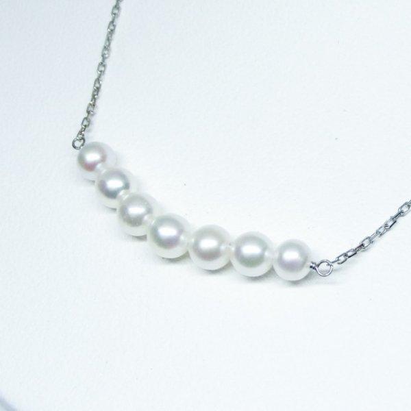 あこや真珠ネックレス P4.0-4.5mm 40cm K18WG