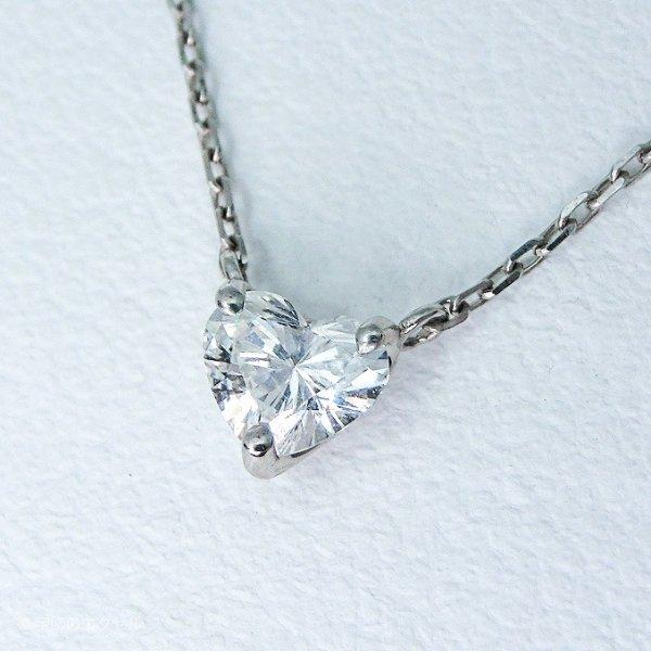 ハートシェイプダイヤモンドネックレス G-VS1 D 0.283ct 40cm Pt900 DGLソーティング付