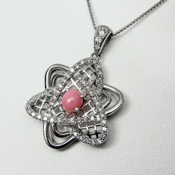 コンクパール ダイヤモンドネックレス CP 0.85ct D 0.45ct 45cm Pt900