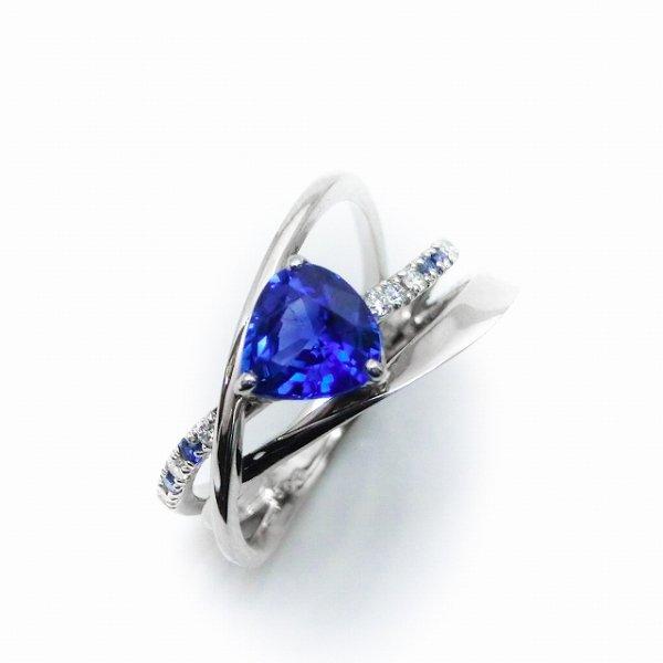 サファイア ダイヤモンドリング SA 1.09ct D 0.09ct SA 0.04ct Pt900
