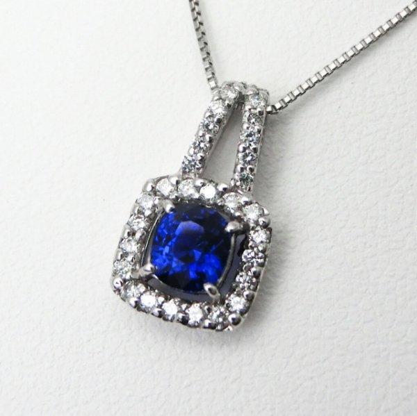 ロイヤルブルーカラーサファイア ダイヤモンドネックレス SA 0.60ct D 0.20ct 45cm Pt900 AIGS鑑別書付
