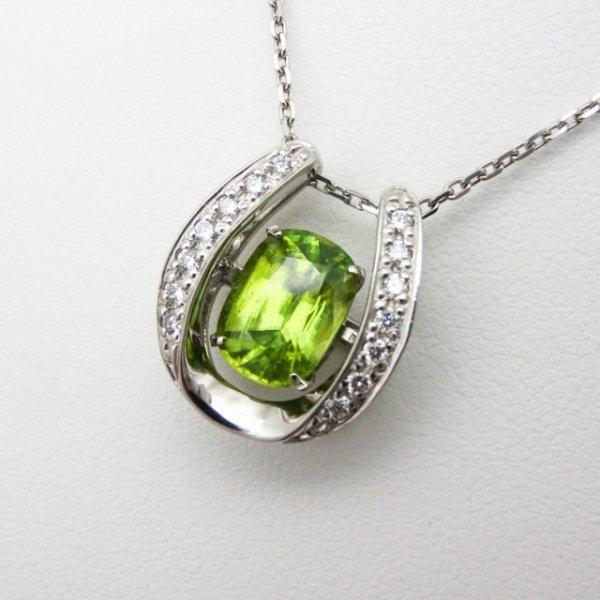 スフェーン 馬蹄モチーフダイヤモンドネックレス SH 1.90ct D 0.14ct 45cm Pt900