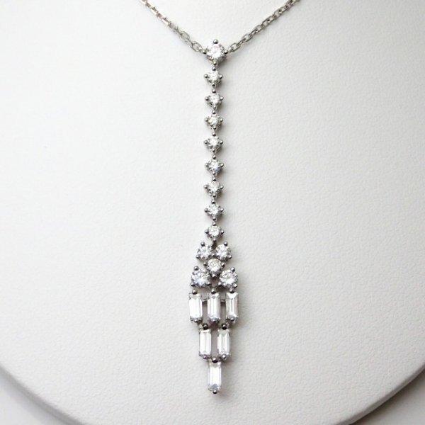 特選ダイヤモンドネックレス D 1.10ct 40cm K18WG