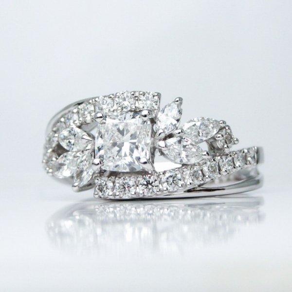 Dカラークッションシェイプダイヤモンドリング D 0.54ct D-IF D 0.62ct Pt900 GIA AGT鑑定書付 【即納】