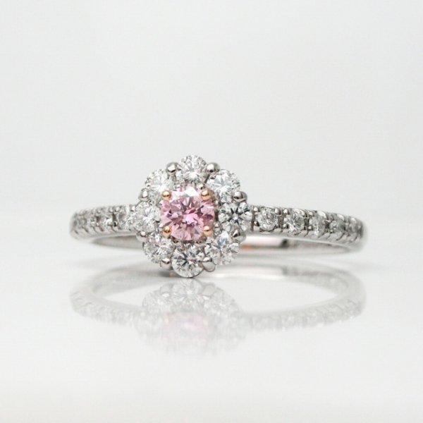 アーガイル産ピンクダイヤモンド H&Cダイヤモンドリング D 0.104ct D 0.31ct Pt900 AGT鑑定書 アーガイルレポート付