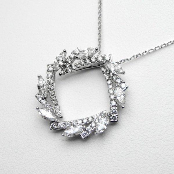 月桂冠 ダイヤモンドネックレス D1.10ct 45cm Pt900