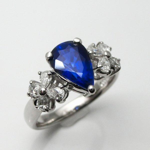 ロイヤルブルーカラーサファイア ダイヤモンドリング SA 2.054ct D 0.41ct Pt900 GRJ鑑別書付 BOUTIQUE LINE