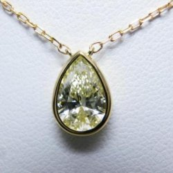 K18 ダイヤモンドネックレス 1.00ct N-VVS1