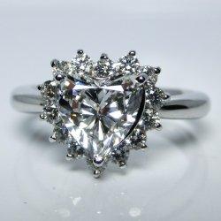 PT900 ダイヤモンドリング 1.19ct 0.25ct