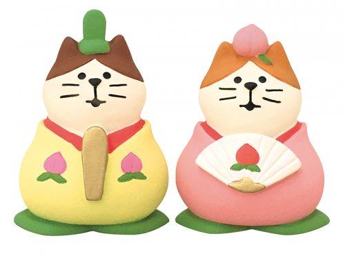 ひなまつり/桃のおひなさま 猫雛/デコレ/concombre/ZMM-79256