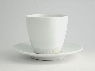 竜山窯 白磁多用エスプレッソカップ