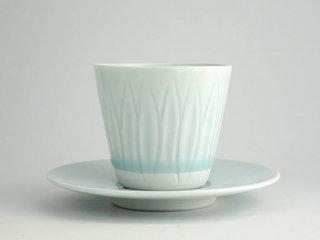 竜山窯 青白磁多用エスプレッソカップ