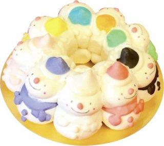 【mini】スノーマン9のちぎりパン snowman9