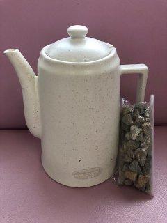 いつでも簡単天然鉱物きららの石で美味しい(体にいい水)ミネラル水ができちゃう♪ 素焼ききららポット  きららの石250付き