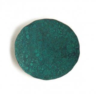 Br-41g 斑紋 円ブローチ大緑