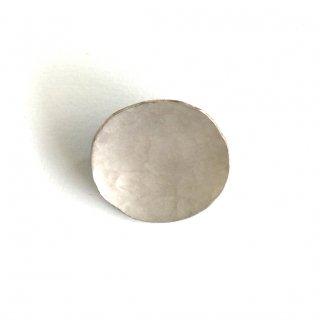 Br-40s 斑紋 円ブローチ小銀