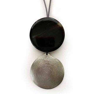 N-200b TINうず丸ネックレス黒