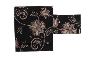 「きものギャラリー凛」インド刺繍名古屋帯 紫花唐草