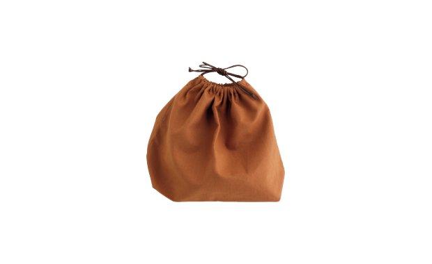 「かごや」柿渋染巾着袋