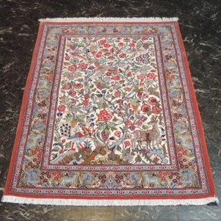 ペルシャ絨毯 Sサイズ(155cm×107cm) クム産  A195