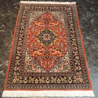 ペルシャ絨毯 Sサイズ(102cm×155cm) クム産  1550