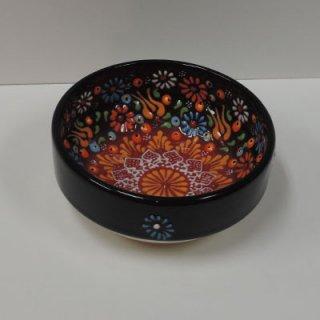 ニメットさんのキュタフヤ陶器 (平皿ナザールボウル S ブラック×レッド01)