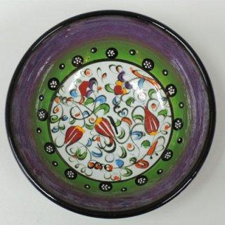 キュタフヤ陶器ボウル (M パープル×チューリップ01)