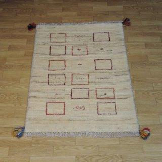 ギャッベ 玄関マットサイズ (87cm×62cm)  2537