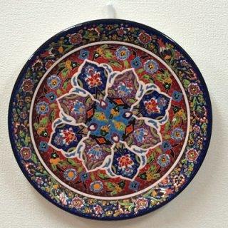 キュタフヤ陶器絵皿 ( LL ブルー×レッド 01 )